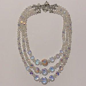 Vintage Iridescent Aurora Borealis Necklace